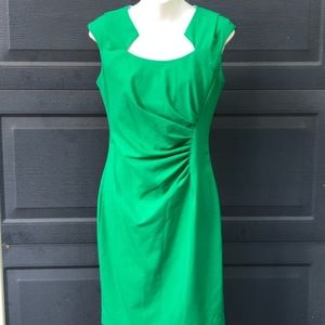 Calvin Klein   Green Side Ruching Dress